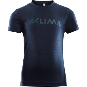 Aclima LightWool T-Shirt Kinder navy blazer